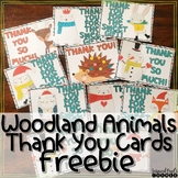Freebie Woodland/Forest Animal Themed Holiday Thank You Cards