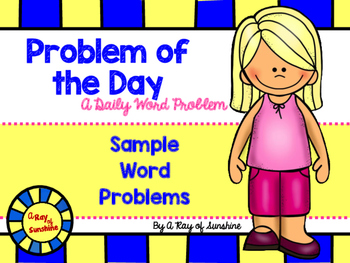Word Problems - Problem of the Day Notebook - Sample