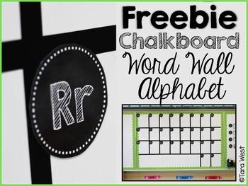 Freebie! Word Wall Alphabet {Chalkboard}