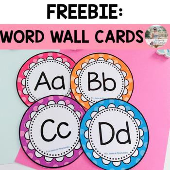 Freebie: Word Wall Alphabet Letters (Polka Dot Themed)   TpT