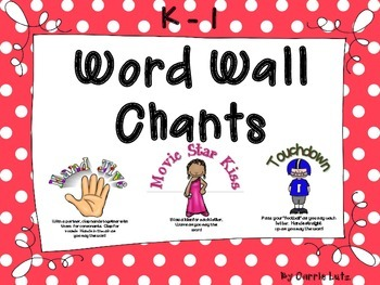 Freebie!  Word Wall Chants {Cards and Spin-A-Chant}