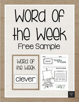 Freebie - Word of the Week Sample