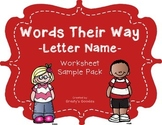 {Free Sample} Words Their Way - Letter Name Alphabetic Spellers - Worksheets