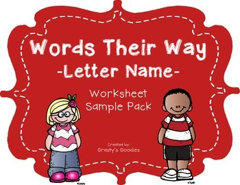 {Free Sample} Words Their Way - Letter Name Alphabetic Spe