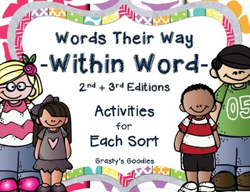 {Free Sample} Words Their Way - Within Word: Activities for Each Sort