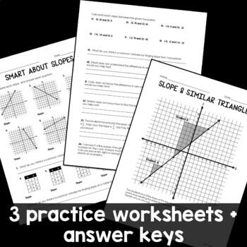 Slope Practice Worksheet by Rise over Run | Teachers Pay Teachers