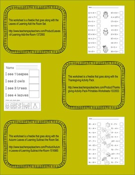 Freebie Worksheets Printables