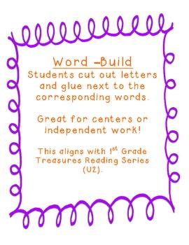 Freebie World Build  Aligned w/ 1st Grade Reading Treasures Series Unit2