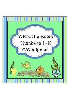 Freebie - Write the Room - Numbers 1-10  C/C aligned
