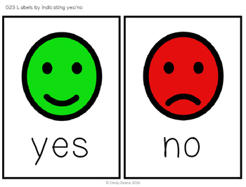 Freebie: Yes/No Choice Board
