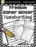Freebie! Zaner Bloser Handwriting Sample
