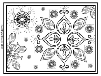 Freebie Zentangle Coloring Pages