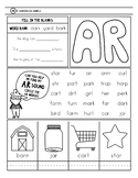 Freebie -ar worksheet