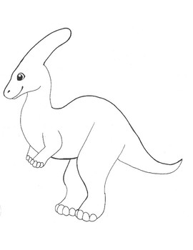 Freebie coloring about dinosaurs