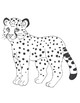 Freebie coloring animals of the savanna