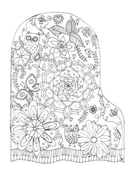 Freebie coloring sheet for piano