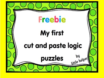 Freebie   cut and paste logic puzzles for kindergarten