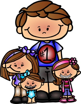 Freebie dad and kid clipart