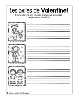 Freebie de la Saint-Valentin : fiche d'écriture libre (à i