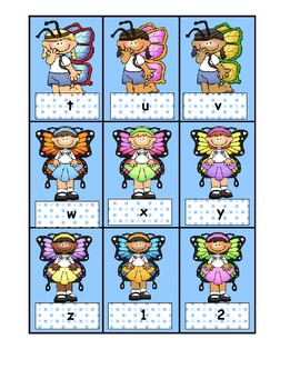 Freebie for Spring  Alphabet Cards and number Cards 1-20