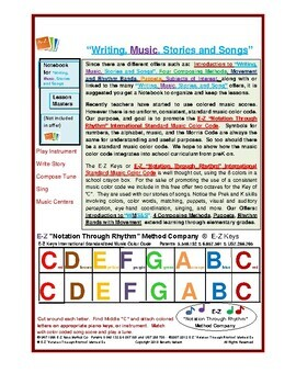 """Freebie for """"Writing, Music, Stories, and Songs"""""""