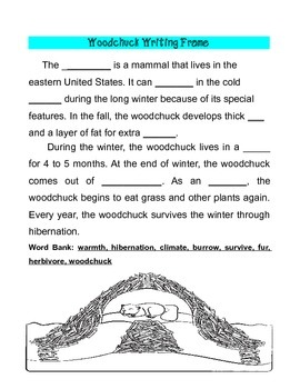 Freebie from Common Core ELA Winter Animals Writing Pack