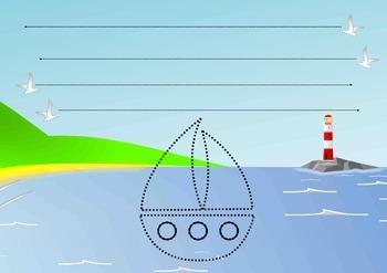 FREEBIE giant tracing worksheet: horizontal lines - midline crossing
