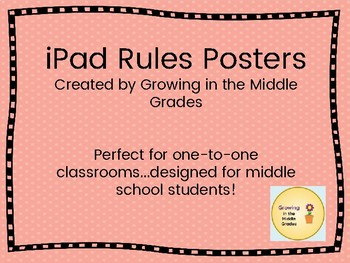 Freebie!  iPad Rules Posters