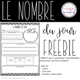 Nombre du jour | FREE French number of the day