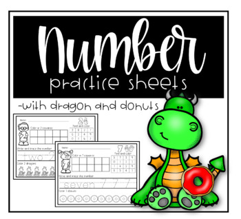 Freebie ~ number practice - ten frame, tally, trace and color