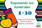 Freebie números 1-30/Trace the numbers