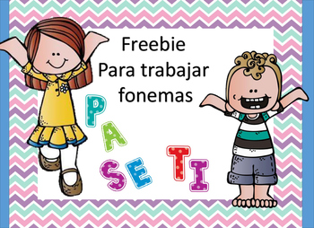 Freebie para trabajar fonemas