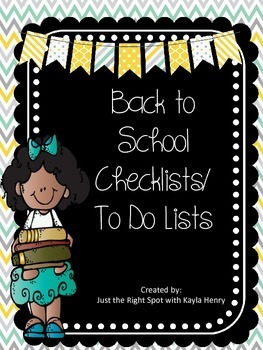 Freebie Back to School Checklists/To Do Lists
