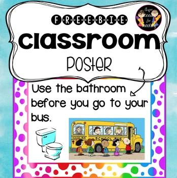 Freebie Classroom Poster 2#