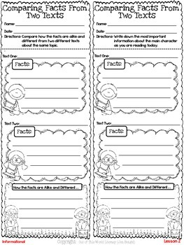 Freebie...Compare Facts From Two Nonfiction Texts