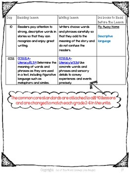 Freebie...Descriptive Language in Reading and Writing