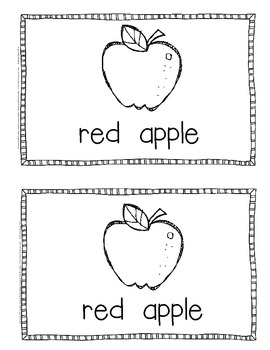 Freebie~Emergent Reader Color Words and Objects