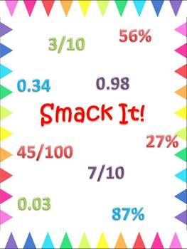 Freebie:Fractions, Decimals and Percents - Assessment Option and Game: Smack It!