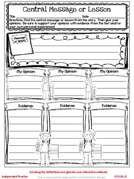 Freebie...Interactive Notebook Lessons for Common Core Reading {Grade 3}