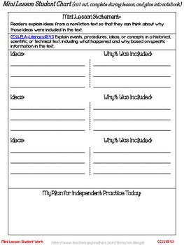 Freebie...Interactive Notebook Lessons for Common Core Reading {Grade 4}