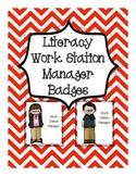 Freebie...Literacy Work Station Badges