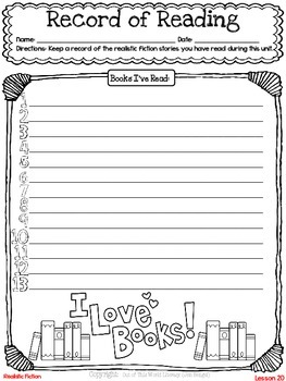 Freebie...Record of Reading Graphic Organizer and Thinkmark