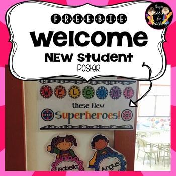 Freebie Welcome Superhero Poster