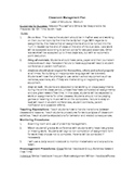Freebie_High School Classroom Management Plan