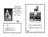 Freebies- As-tu des souliers?  Reading Booklet- livret de lecture 1/2