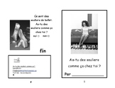 Freebies- As-tu des souliers?  Reading Booklet- livret de lecture 1/2