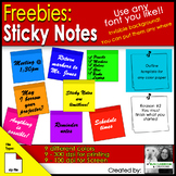 Freebies: Sticky Notes