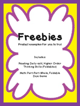 Math and Reading Freebies (Grades 1 - 3)  Amy Padgett Creations: samples