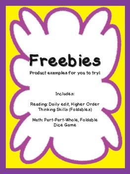 Math and Reading Freebies (Grades 1 - 3)  Amy Padgett Crea