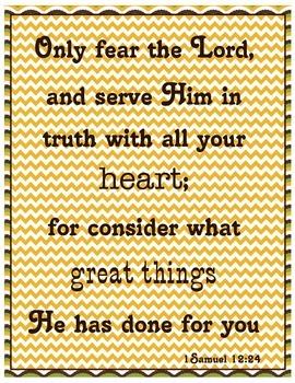 {Freebie} Bible Verse Poster- Service